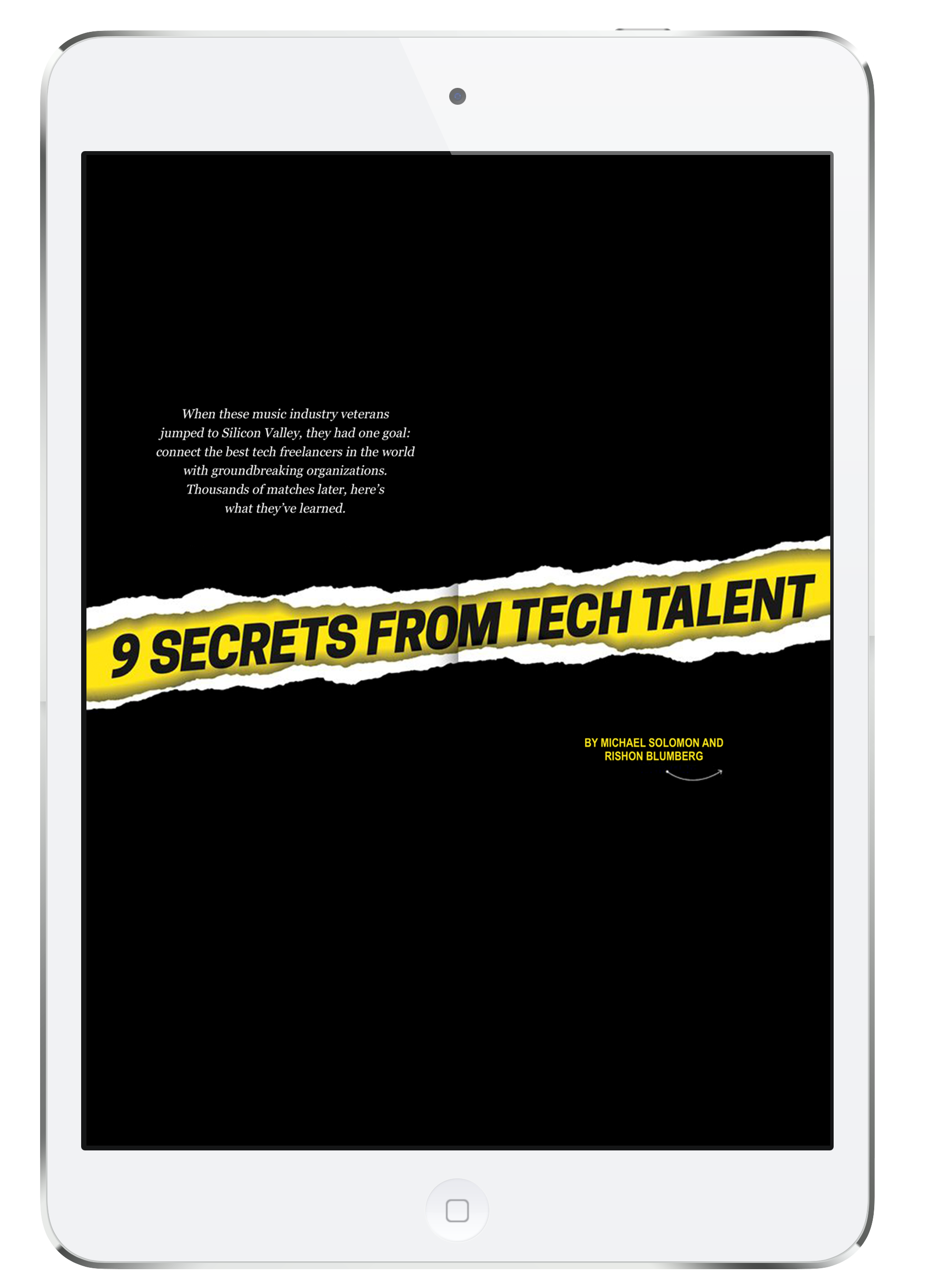 9 Secrets for Tech Talent Management (iPad)